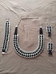 Upcycled Statement Bracelet - ECO C Soda Tab Crafts, Can Tab Crafts, Bottle Cap Crafts, Tape Crafts, Leather Jewelry, Wire Jewelry, Jewelry Crafts, Beaded Jewelry, Jewelery
