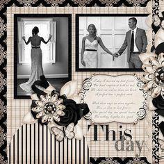 Wedding Scrapbook Layouts   12X12 Layouts   Scrapbooking Ideas   Creative Scrapbooker Magazine #scrapbooking101 #weddingscrapbooks