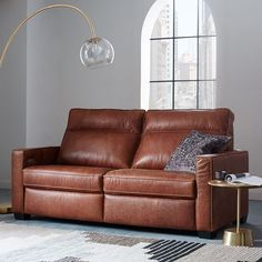 """Henry® Leather Power Recliner Sofa (77"""")   west elm"""
