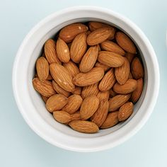 """Substances in almond skins help prevent LDL """"bad"""" cholesterol from being oxidized, a process that can otherwise damage the lining of blood vessels and increase cardiovascular risk.  Sprinkle almonds on cereals and salads, nibble on a handful for an afternoon snack.  DNA Health Corp #AbuDhabi #GoodMorning #healthytip"""