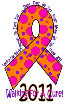 This was the logo I created for the Paducah, KY Walk For A Cure 2011!! Our team name was The Crazy MS Chicks!!
