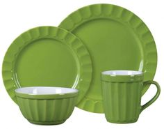 Dinnerware In Green Apple