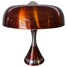 Copper Space Age Desk Lamp, 1970s  | From a unique collection of antique and modern table lamps at https://www.1stdibs.com/furniture/lighting/table-lamps/