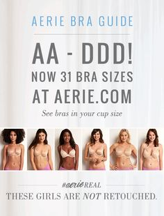 Aerie's Bra Guide. Perfect bras for every girl!