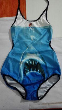 5db7cbcc90eb8 US $7.56 |Aliexpress.com : Buy Sexy Mermaid Swimwear v neck Halter bikini  Mermaid Beach Wear New Blue Shark Swimsuits One Piece Lace up Strappy 3D  Print ...