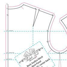WOMEN'S FOUR BASIC BLOCKS CREATED IN ILLUSTRATOR & SAVED AS A PDF… Includes a bodice, Dress, Skirt, & trouser