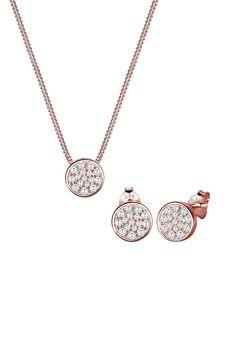 Romantische Rosa Blume Dekoration Schmuck-set Für Braut Schöne Goldene Überzogene Kette Halskette Für Frauen Hochzeits- & Verlobungs-schmuck