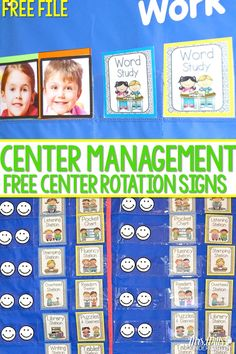 Station Signs Free Files for your kindergarten classroom. Help manage your center or learning stations with this free printable. Math, literacy, word work too! Great for Daily 5!