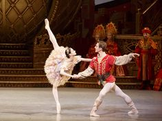 Svetlana Lunkina and Evan McKie in The Nutcracker. Photo by Bruce Zinger.
