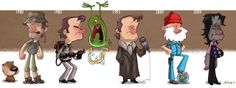 Evolution of Famous Musicians, Film Actors & Characters by Jeff Victor