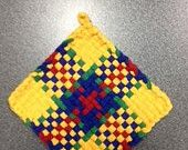 Turkish Delight Potholder. $4.00, via Etsy.