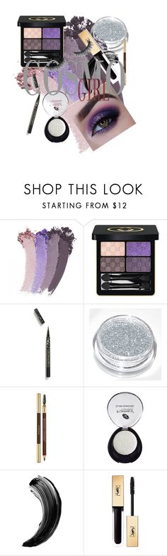 """""""smokey eye #purple"""" by kennyreynolds ❤ liked on Polyvore featuring beauty, Gucci, BHCosmetics and Yves Saint Laurent"""