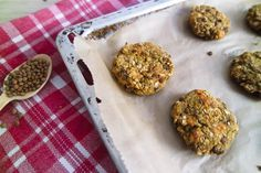 Vegane Linsenbratlinge glutenfrei, fettarm , ohne soja, gesund