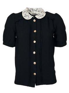 Černá halenka Pepa Loves Juanita s límečkem 1 Sweaters, Style, Fashion, Dressmaking, Swag, Moda, Fashion Styles, Sweater, Fashion Illustrations