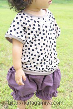 作り方が簡単な子供服ドルマンTシャツ型紙