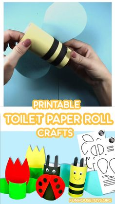Just right before the start of summer, we created these super cute printables that makes crafting with toilet paper roll easy. Perfect for scissor practice our printables have thick lines so little ones can learn how to cut. Cardboard Tube Crafts, Paper Towel Roll Crafts, Toilet Paper Roll Art, Rolled Paper Art, Toilet Paper Roll Crafts, Summer Crafts For Kids, Crafts For Boys, Spring Crafts, Toddler Crafts