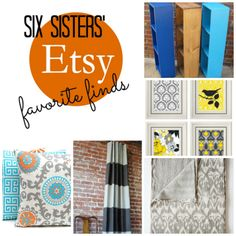 Etsy Favorite Finds from SixSistersStuff.com.  Check out these great products to decorate your home on a budget! #etsy #decor