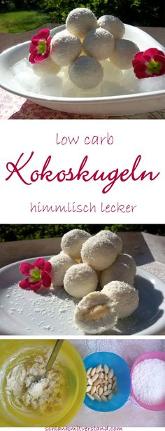 Kokoskugeln low carb Köstlichkeit Creamy coconut balls low carb These low carb coconut balls are filled with an almond and … Low Carb Sweets, Low Carb Desserts, Healthy Sweets, Low Carb Recipes, Vegan Recipes, Diabetic Recipes, Diabetic Cake, Ketogenic Desserts, Diet Desserts