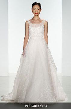 Christos Bridal 'Claire' Beaded Chantilly Lace & Floral Tulle Ballgown (In Stores Only) available at #Nordstrom