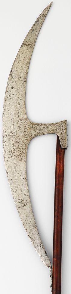 Ottoman berdiche, 1782–1783, steel, wood, silver, L. 55 3/4 in. (141.6 cm, Met Museum, Bequest of George C. Stone, 1935.
