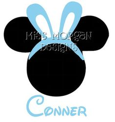 Personalized Easter Mickey Mouse Disney iron on for shirt. $7.00, via Etsy.