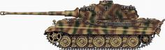 Click this image to show the full-size version. Tiger Ii, Camouflage Patterns, War Thunder, Tiger Tank, Model Tanks, Panzer, Skin So Soft, Scale Models, Military Vehicles