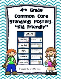 4th grade kid friendly common core standards posters  More 4nd Grade at: www.TutorFrog.com