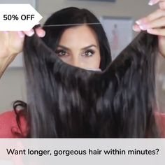 Did you know, clip in hair extensions can put a lot of pressure on your scalp & damage your roots over time? You may want long, incredible hair but why sacrifice the health of your natural hair? That's why we have these No-Clip Hair Extensions that o Natural Hair Updo, Natural Hair Styles, Halo Hair Extensions, Hair Extentions Clip In, Clip In Hair Extensions Styles, Long Hair Extensions, Hair Blog, Scene Hair, Tips Belleza