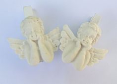 Klamerki Aniołki  / angels wooden clips