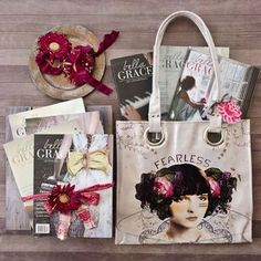 Join us in reliving life's beautiful journey with the premium Bella Grace collection! Savor the stories of life's ordinary sparkling moments from Issues 2 through 8, and carry your inspiration on-the-go in the luxe tote bag from Papaya Art. Words to inspire and a beautiful bag — who could ask for more?