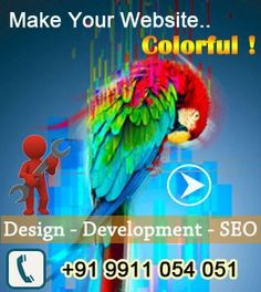 """""""The purest and most thoughtful minds are those which love color the most. """"  ― John Ruskin.. Colors are symbol of creativity, life and happiness..we put colors in your website..so turn your imaginations on website with us !"""