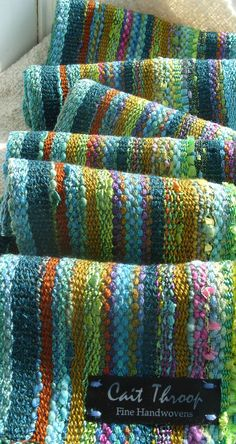 Handwoven Scarf Forest Meadow Woven Wrap by barefootweaver on Etsy