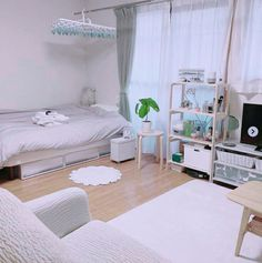 6 Creative Tips on How to Make a Small Bedroom Look Larger - aesthetic bedroom Dream Rooms, Dream Bedroom, Master Bedroom, Bedroom Green, White Bedroom, Master Suite, Room Ideas Bedroom, Bedroom Decor, Korean Bedroom Ideas