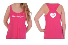 Greek Heart on back of Kappa Kappa Gamma Tank Top. Love this tank with its flare style and racer style back. Great for yoga, the gym, shorts or poolside. The go to tank for the summer. #kappakappagamma #kappa #tanktop #greek #sorority #greekgift #summer #mdsororitygifts