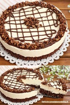 Torta fredda kinder cereali COLD CAKE KINDER CEREALI an easy summer dessert with very few ingredients. Chess Cake, Easy Summer Desserts, Cold Cake, Biscotti, Tiramisu, Food And Drink, Sweets, Homemade, Chocolate