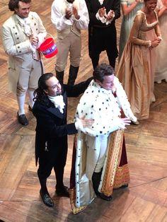 Jonathan Groff's last performance as King George III the 2nd. 4/9/16