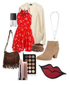 Untitled #150 by bradleajames on Polyvore featuring polyvore, fashion, style, Lucy Love, Topshop, Splendid, Pieces, Maison Margiela, Make, Maybelline, NARS Cosmetics, clothing, Boots, HM and fall2014