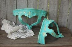 Hand painted jewelry boxes and shabby chic home decor. These items have been sold, but you're welcome to look for colors or styles that you may be interested in, and don't hesitate to contact me with any questions o