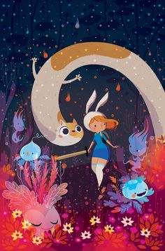 Fionna and Cake - Cover by Lorena Alvarez Gómez, via Behance