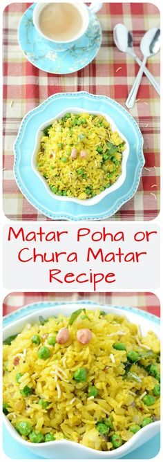 Today's breakfast comes from the sacred land of Banaras – Matar Poha or Chura Matar Recipe. A delicious one pot Indian breakfast prepared with flattened rice & peas.