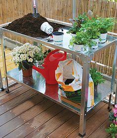 Workbench/Potting Table.  Rust proof galvanized steel.   @Burpee.com