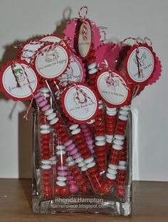 Valentine m & M tubes!  So cute!