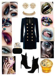 """""""OBSESSION !!"""" by heirymarmol on Polyvore featuring Balmain, Kendall + Kylie, Bulgari, Blue Nile, Alexander McQueen, House of Sillage and Chanel"""