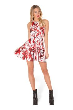What A Mess Reversible Skater Dress (WW $85AUD / US $80USD) by Black Milk Clothing