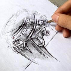 watch sketch by lifeasfunder.