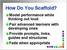 Thought this might help us think about how we scaffold lessons.