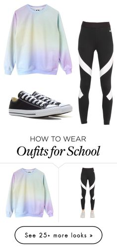 """Casual School Day!!"" by cheyennerego on Polyvore featuring NIKE and Converse"