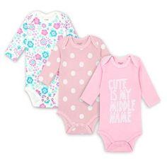 Newborn Baby Girl Babygrow Babysuit All in One Pomper Pyjamas 1,3,6 Months