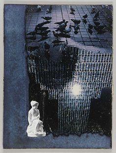 Untitled (pigeons on rainy street) by Joseph Cornell / American Art