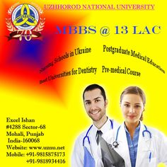 Study Medicine and various bachelor and postgraduate courses are offered by the world top ranking university in Ukraine, Uzhhorod National University.